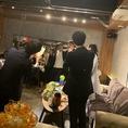ステージもあるので、結婚式二次会にも歓送迎会にもお好みのテーブル配置で宴会可能です!