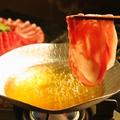 料理メニュー写真沖縄2大ブランド肉『石垣牛とあぐー豚のしゃぶしゃぶ』