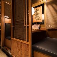 駅近◎大小様々な個室も完備!