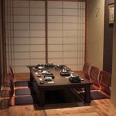 掘りごたつの完全個室です。6名様までのお席です。