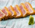 料理メニュー写真本マグロ使用のマグロカツ