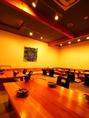 1テーブル4~6名様まで。少人数での宴会におすすめ。ゆったりできる和モダンなお座敷空間で、寛ぎのお時間をお愉しみ下さい。