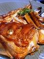 料理メニュー写真瀬戸内タイ荒煮、骨蒸し/ブリカマ煮付け/大漁アラ煮