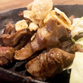 料理メニュー写真砂ズリの鉄板塩焼