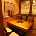 完全個室でゆっくりとくつろげるテーブル席