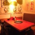 少人数のお客様用のテーブル席!