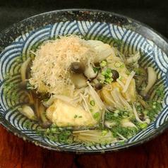料理メニュー写真きのこと豆腐の揚げだし