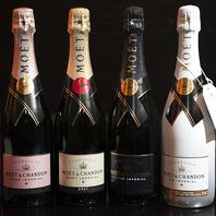 シャンパンの品揃えも充実★記念日やお祝いの1本に!
