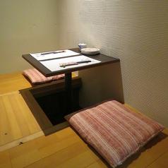 〈全席掘り炬燵個室〉襖を閉めると、完全個室に。
