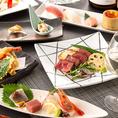 ■【宴会コース】■お肉とお魚、どちらもお楽しみいただける贅沢コースを多数ご用意!2時間飲み放題付きですので最後まで飽きることなくお過ごしいただけます。前菜、サラダ、お造り、焼き物、お食事、甘味など豊富にご提供致します!この機会にぜひご利用下さい!各種宴会のご予約を承っております!