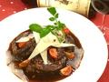 料理メニュー写真仔牛肉のバルサミコ風味