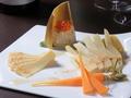 料理メニュー写真生筍のカルパッチョ