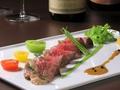料理メニュー写真国産牛肉のアンティパスト コンフィ仕立て