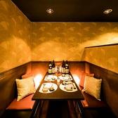 個室席は少人数~ご利用可能です。おしゃれな雰囲気は女子会、合コンなどにも最適◎