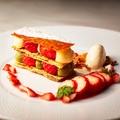料理メニュー写真アップルパイシナモン風味のアングレーゼソース