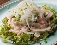 料理メニュー写真貝柱と野菜の梅肉ドレッシング
