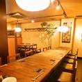 【会社宴会にもオススメ】テーブル席は最大12名様。靴を脱がないから楽ちん★※大人数の場合はお早めの予約がオススメです。