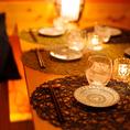 約12名様まで対応のテーブル席♪新鮮な魚と共に素敵なご宴会をお楽しみください。