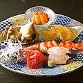 料理メニュー写真【雪】アワビ、車海老、キャビア、雲丹、本鮪など贅を尽くした豪華爛漫!お造り6種盛りを堪能!