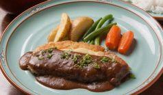 料理メニュー写真豚ロース肉のチーズカツレツ
