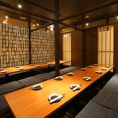 2F席は掘りごたつ個室で宴会・飲み会・送別会・歓迎会が可能です。最大36名様までご利用いただけます。
