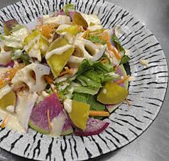 【サラダ】さつまいもと蓮根のサラダ しょうがドレッシング
