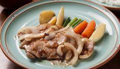 料理メニュー写真豚ロース肉の生姜焼き