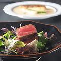 料理メニュー写真【竹】とろけるような霜降り黒毛和牛と魚介のWメインに季節の土鍋ご飯が楽しめる至福のコース