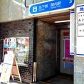 4、紳士服のコナカの地下へ向かう秘密の階段(地下鉄関内駅)を降りて~