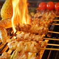 料理メニュー写真串焼き盛り 5本