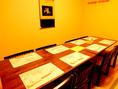 2階の8名様までの完全個室です。お食事をゆったりと過ごされたい方にピッタリのお席です。