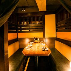 【2名~4名様個室】少人数様テーブル席は、お仕事帰りに気軽にご利用頂けます。