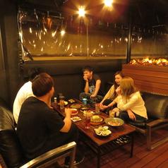 [7F:完全個室/テラス席]晴れの日も雨天の日もご利用OKのテラス席!雰囲気抜群の空間となっております。
