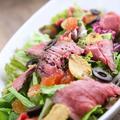 料理メニュー写真ローストビーフの和風サラダ