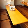 8名様用テーブル席は小規模~中規模のご宴会や合コンなど幅広いシーンでお使いいただけるのが人気のお席です。