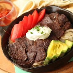 料理メニュー写真牛バベットのファフィータ タコススタイル