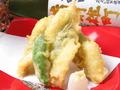 料理メニュー写真たこの天ぷら/穴子の天ぷら