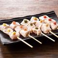 料理メニュー写真奥三河鶏トロ串5種盛り