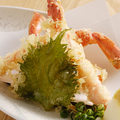 料理メニュー写真ずわい蟹天婦羅
