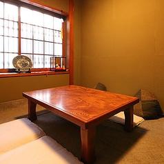 4名様~最大6名様までお使いいただける個室はご接待やご家族のお食事でのご利用時にお勧めです。