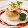 料理メニュー写真フォアグラのステーキ パルメジャーノの焼きリゾット添え