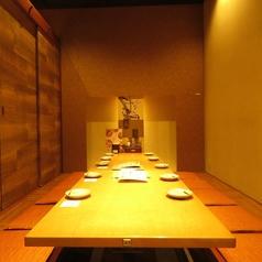ご宴会・接待等に最適な個室です。掘りごたつでゆったりできます♪