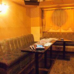 ムード満点の個室