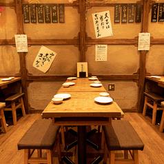 生ビールや日本酒、生絞りサワーなどが付いた飲み放題付きコースを多数ご用意しております。開放的な店内で、楽しいひと時をお過ごしくださいませ。
