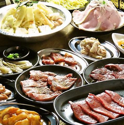8種類の焼肉+サラダとお鍋を選べる【牛旨コース】お料理のみ★全12品3320円(税込)