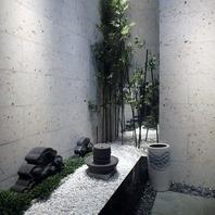 庭園のような贅沢感のある雰囲気