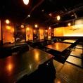 ゆったりとした上質な空間。最大40名様までご案内可能!会社宴会や同窓会などに!