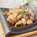 料理メニュー写真奥久慈しゃもとつくば鶏の特製三種炒め