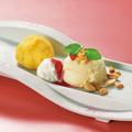 料理メニュー写真あつあつお芋とバニラアイス