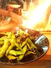 さっと炙った枝豆